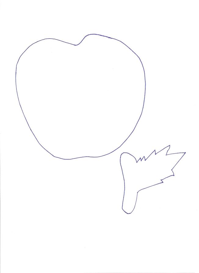 πατρόν μήλου σε φυσικό μέγεθος