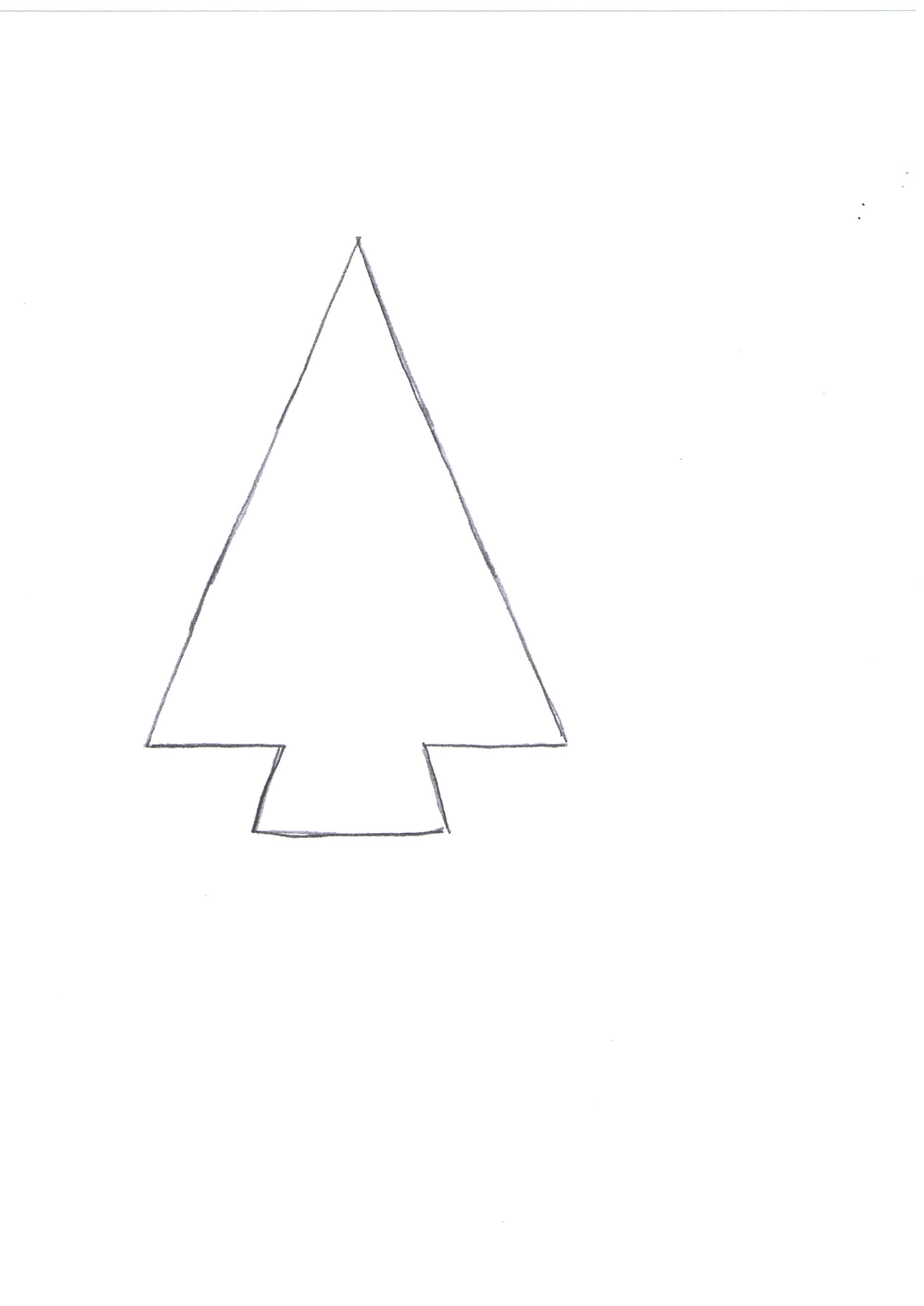 Раскраски елочки новогодней
