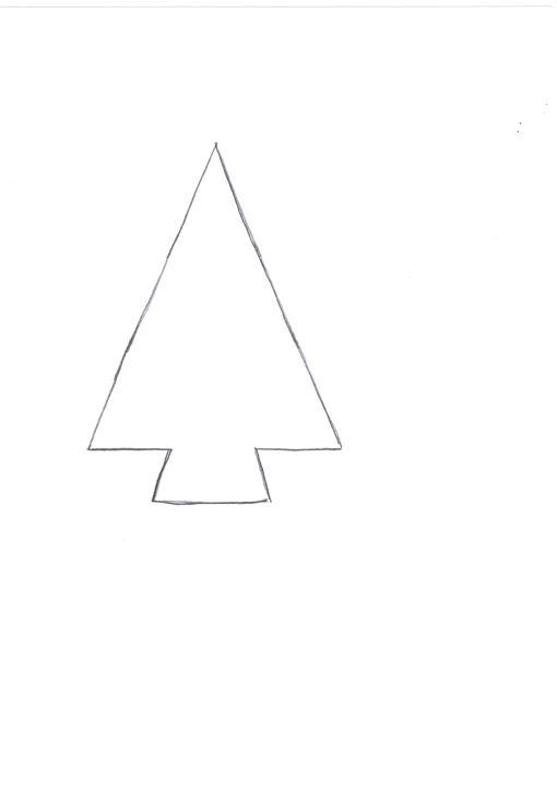 Шаблон елочки для новогодних поделок